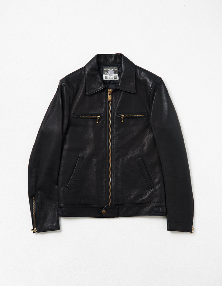 Cow Leather Jacket w/ Single Front Detail
