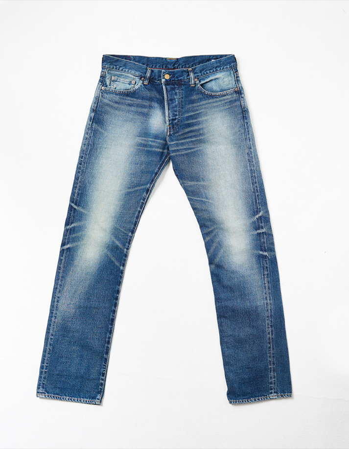 HD Denim Pants w/ Distressed Detail