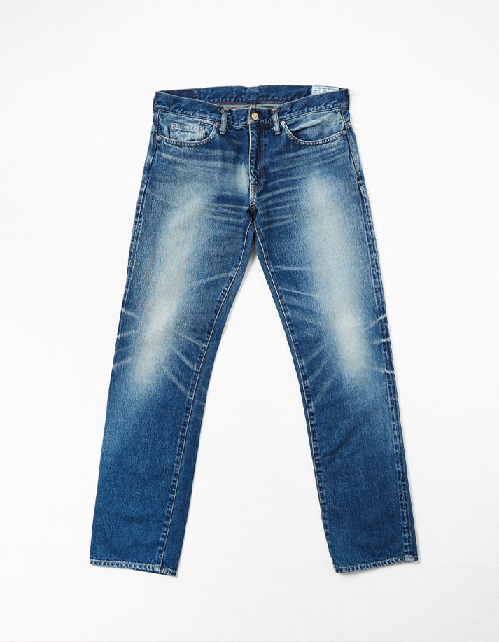 HD Denim Pants w/ Distressed Detail -Slim